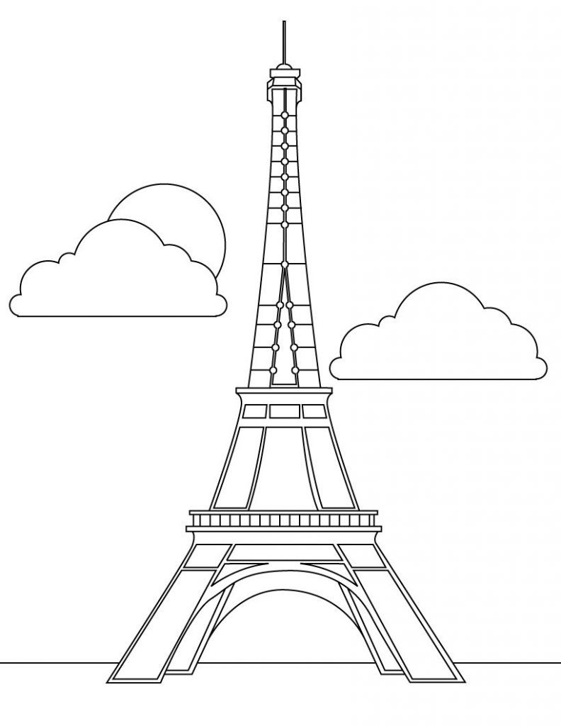 Free Printable Eiffel Tower Coloring Pages For Kids Eiffel Tower Pictures Eiffel Tower Drawing Eiffel Tower Clip Art