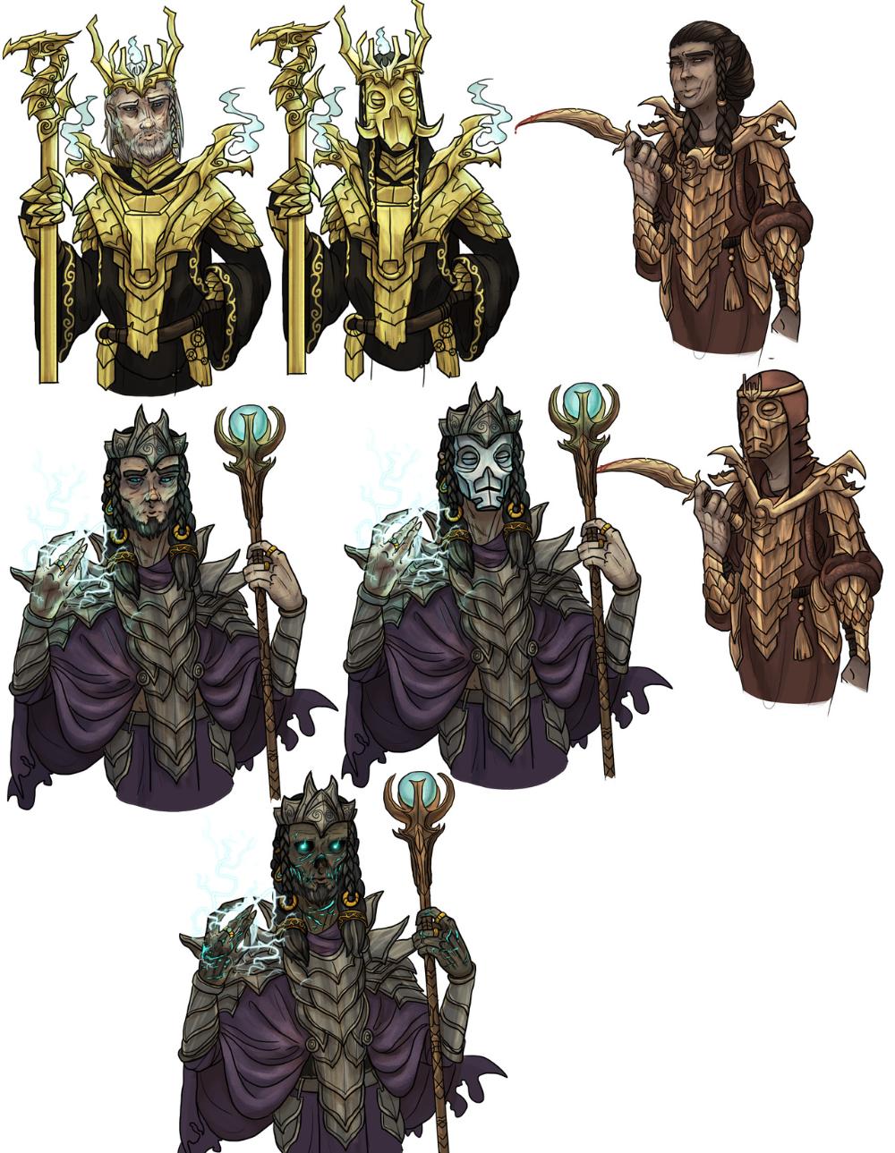 Konahrik Volsung And Morokei By Qethnehzul Sci Fi Character Art Elder Scrolls Skyrim Elder Scrolls Art