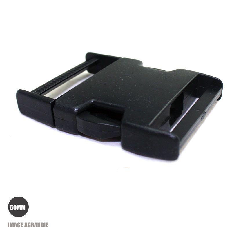 1 x 50mm Boucle Attache Rapide   Fermoir Clip   Plastique   Noir   Rigide   5d62421bf05