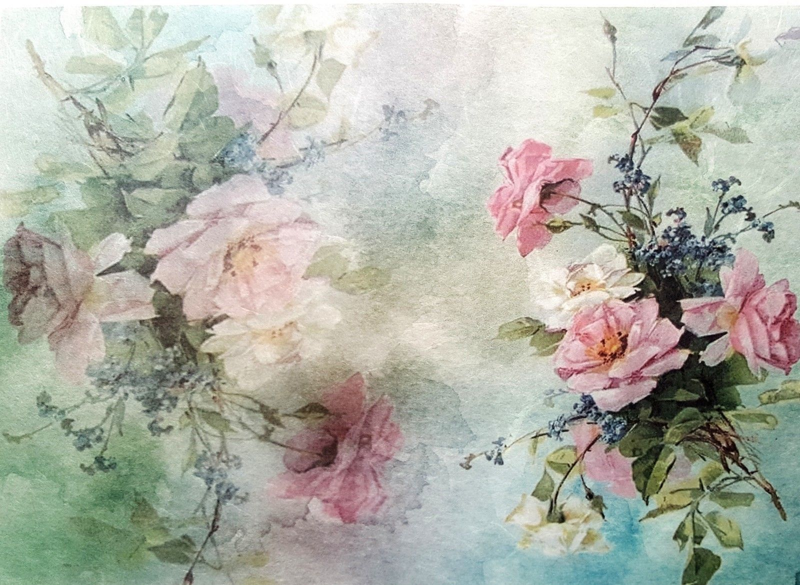 Rice Paper for Decoupage Painting Ladies 6 Scrapbooking Sheet Craft Vintage