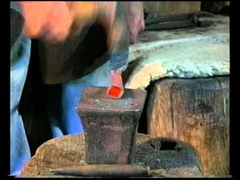 How to make a Celtic spearhead. Also on this site, how to make a smelting furnace, bramble bindings, braided bow strings, card wool, forge, etc.