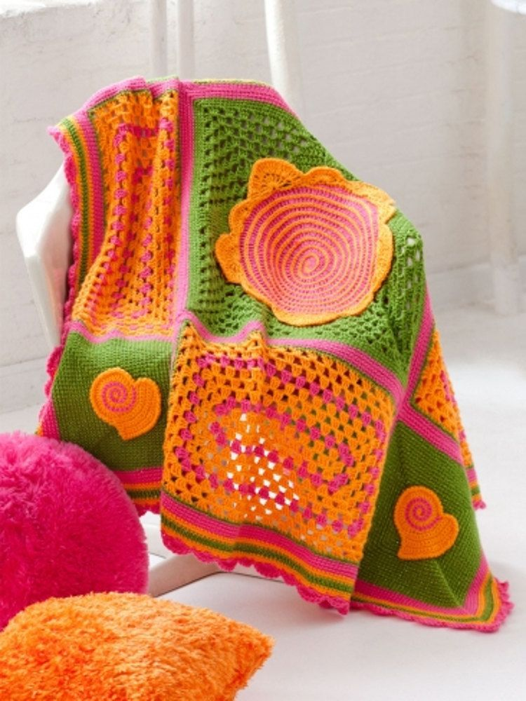 Teen Throw In Caron Simply Soft Party And Simply Soft Brites