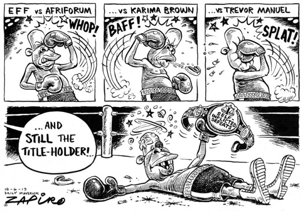 Knockout Blows #JuliusMalema - Zapiro June 2019
