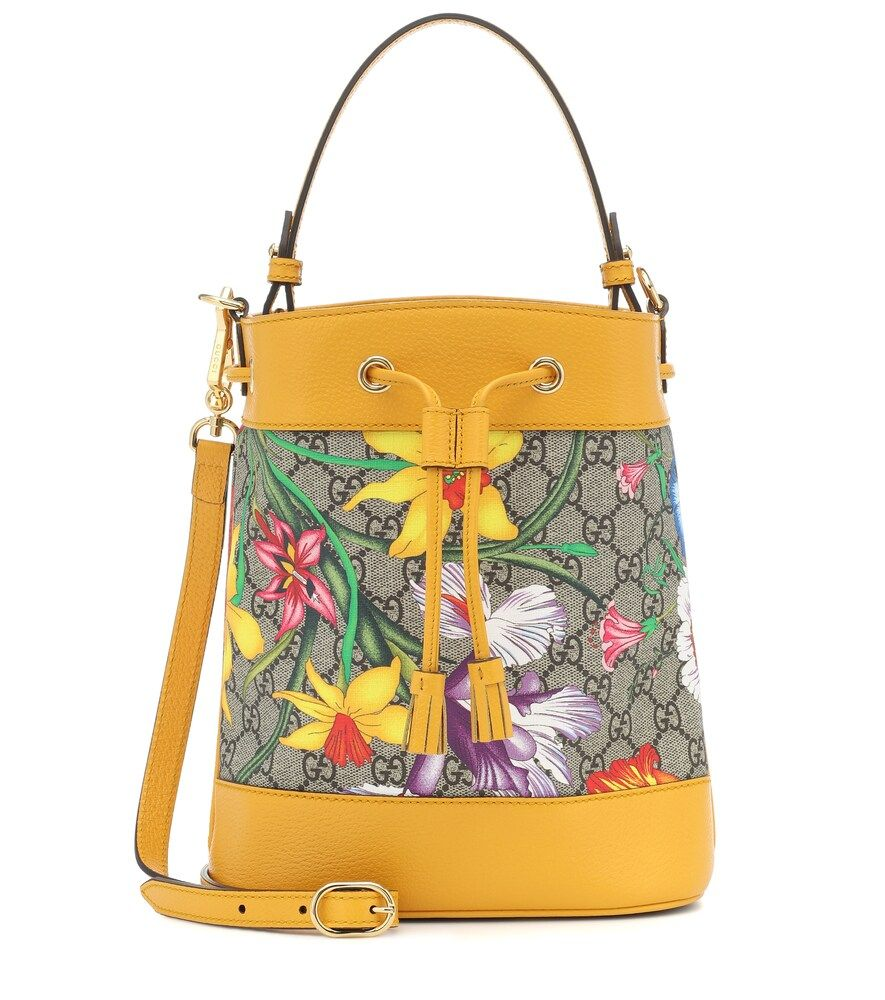 GUCCI OPHIDIA GG FLORA SMALL BUCKET BAG bags bags