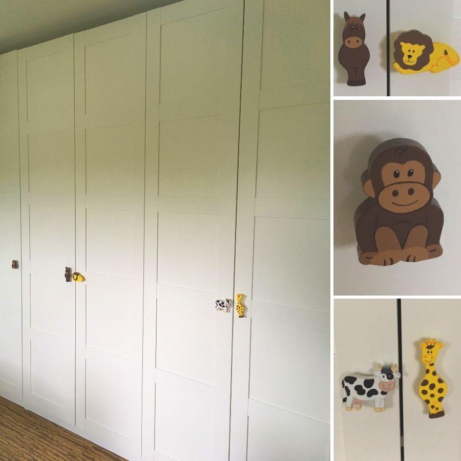 Eine Ikea Pax Schrankwand Wurde Hier Mit Freundlichen Tier
