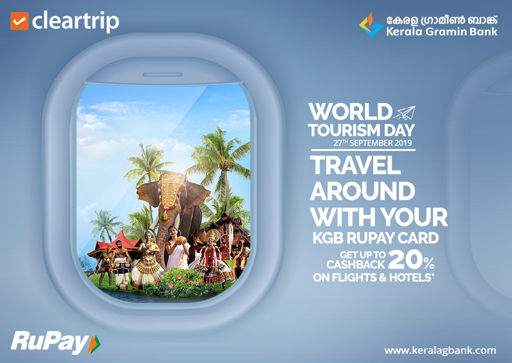 Travel Around With Your Kgb Rupay Card Happy World Tourism Day