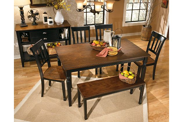 Owingsville Dining Room Table By Ashley Homestore Black Brown Dining Room Bench Dining Room Colors Dining Room Server