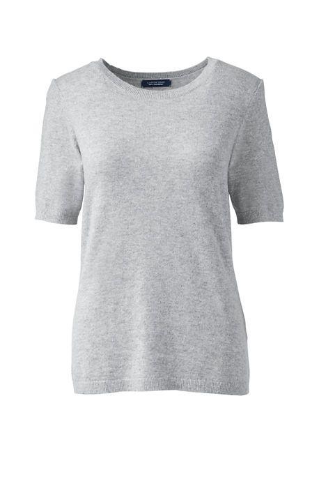 Women's Petite Short Sleeve Cashmere Sweater | sweaters ...