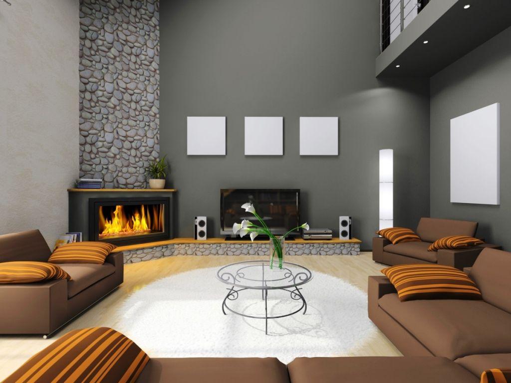Living Room  Modern Interior Design Living Room Corner Fireplace Captivating Cabinet Design For Living Room Inspiration