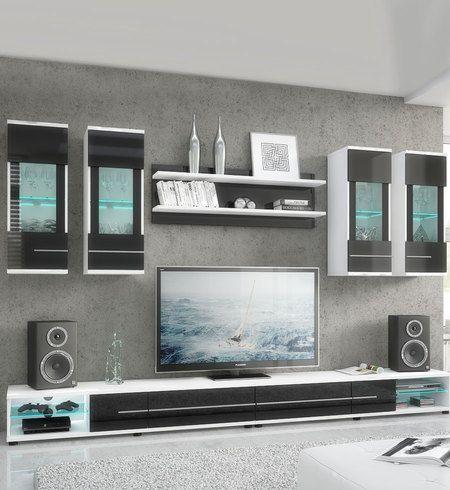 Wohnwand «Jambo» TV Cabinet Pinterest Wohnzimmer und Wohnen - wohnwnde hochglanz