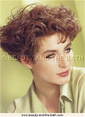 Very Short Wedge Haircut Pictures Permed Hairstyles Short Hair Model Short Wavy Curly Hair