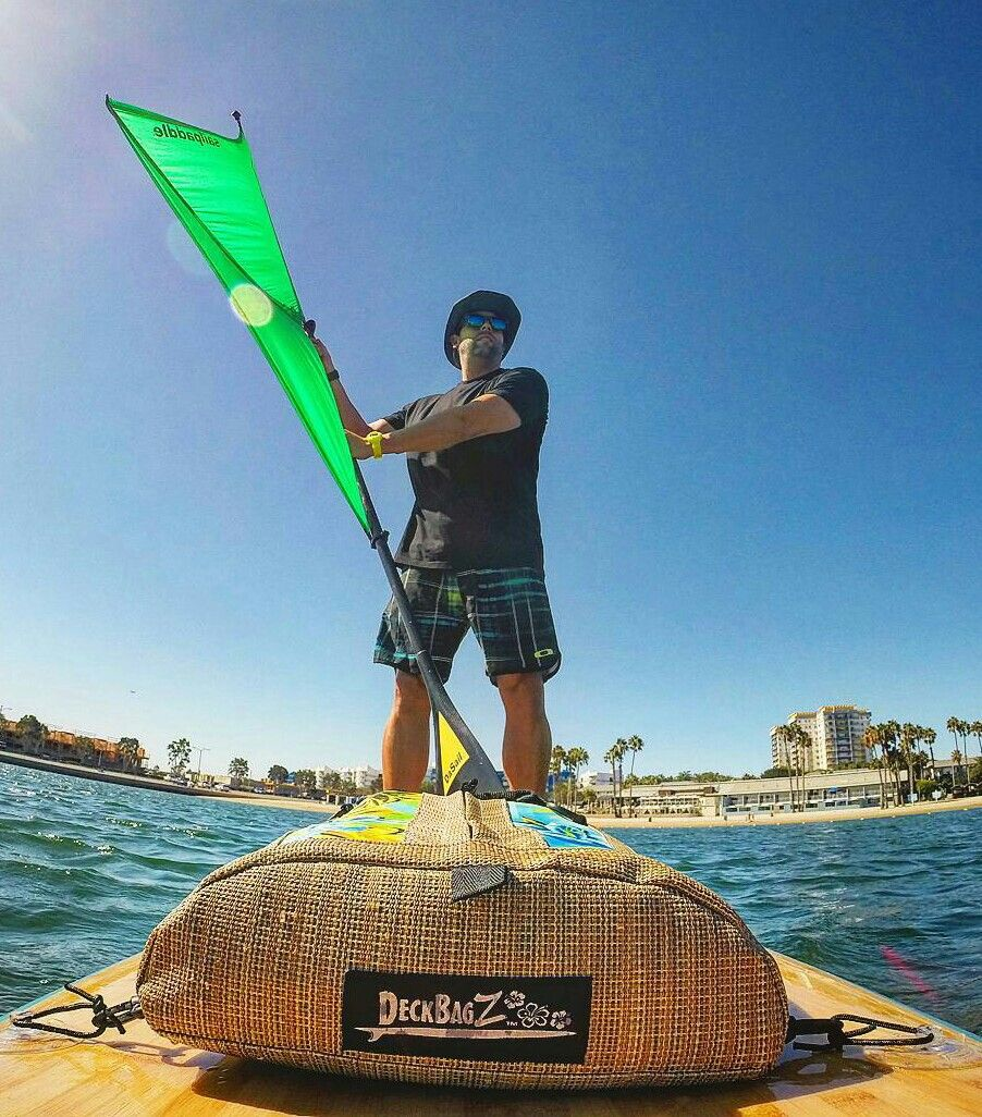 00cdab9dbe DeckBagZ on your paddleboard. SUP deck bags made in America