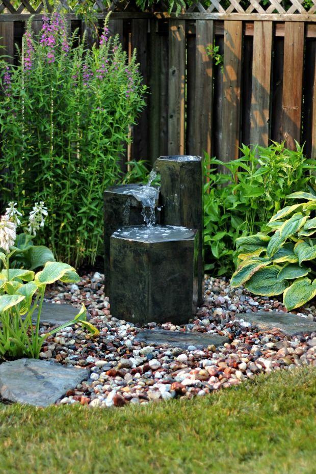 Waterfountain2craftberrybush Backyard Water Fountains Water