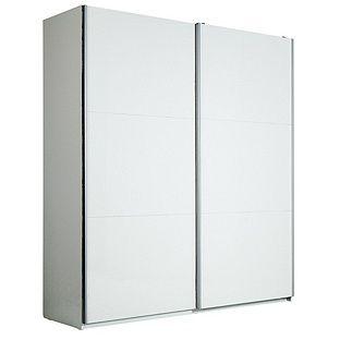 buy hygena bergen xl sliding wardrobe 180cmx200cm white gloss at
