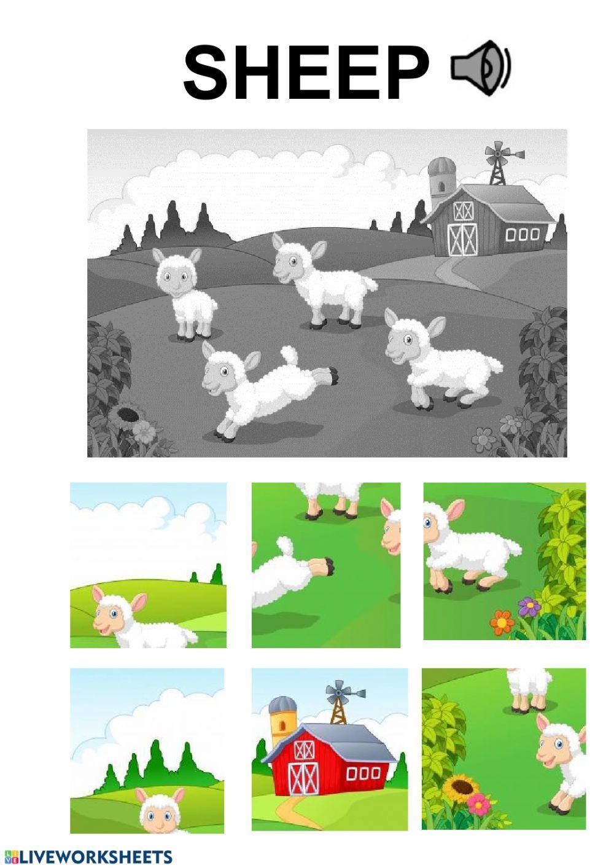 Sheep Puzzle Worksheet Interactive Activities Online Puzzles Worksheets [ 1413 x 1000 Pixel ]