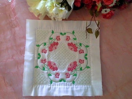 Embroidery Weekly: Quilt As You Go Blocks