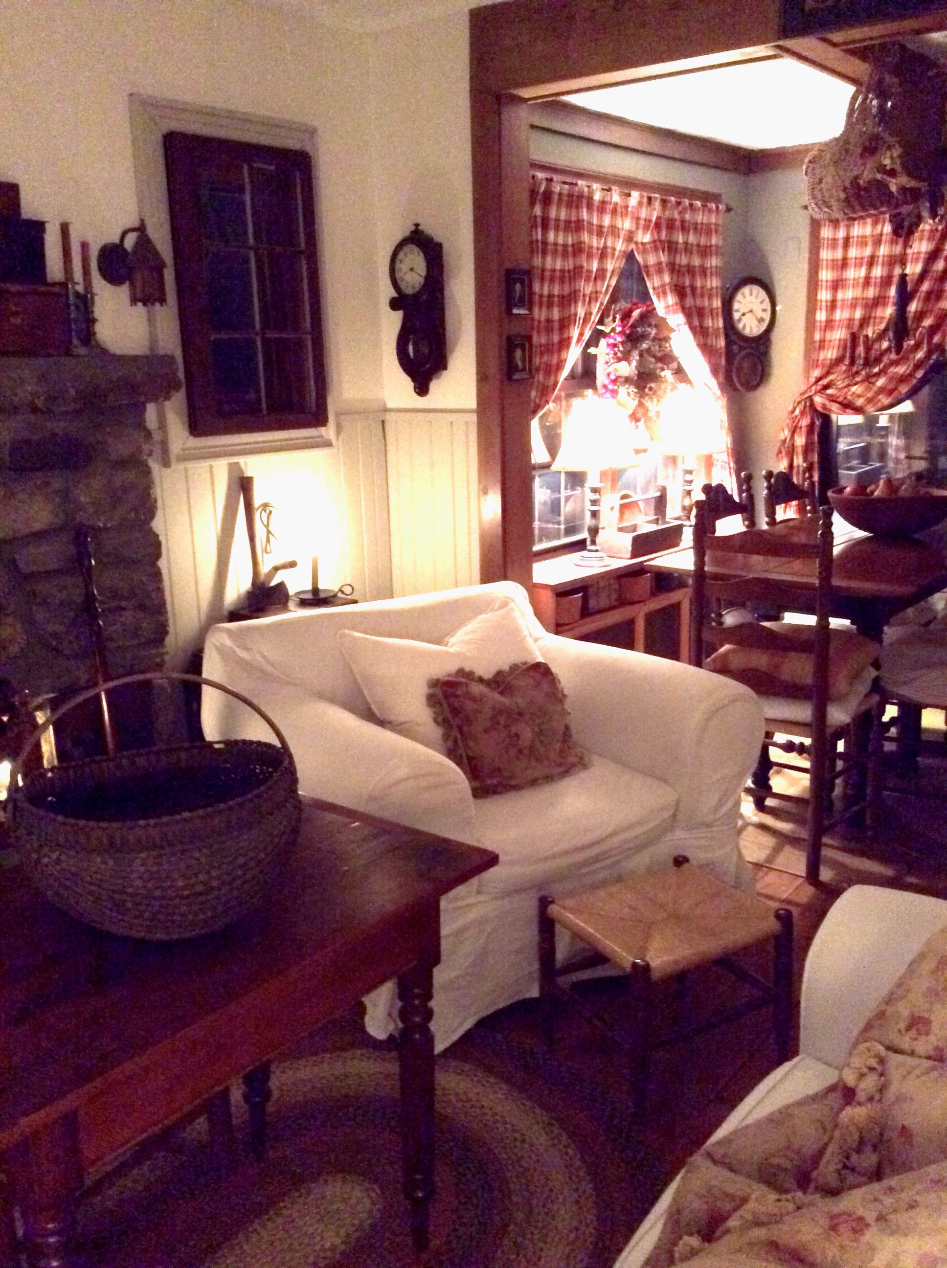 Colonial Primitive Decor Living Room Country Style Living Room Primitive Living Room Primitive Decorating Country