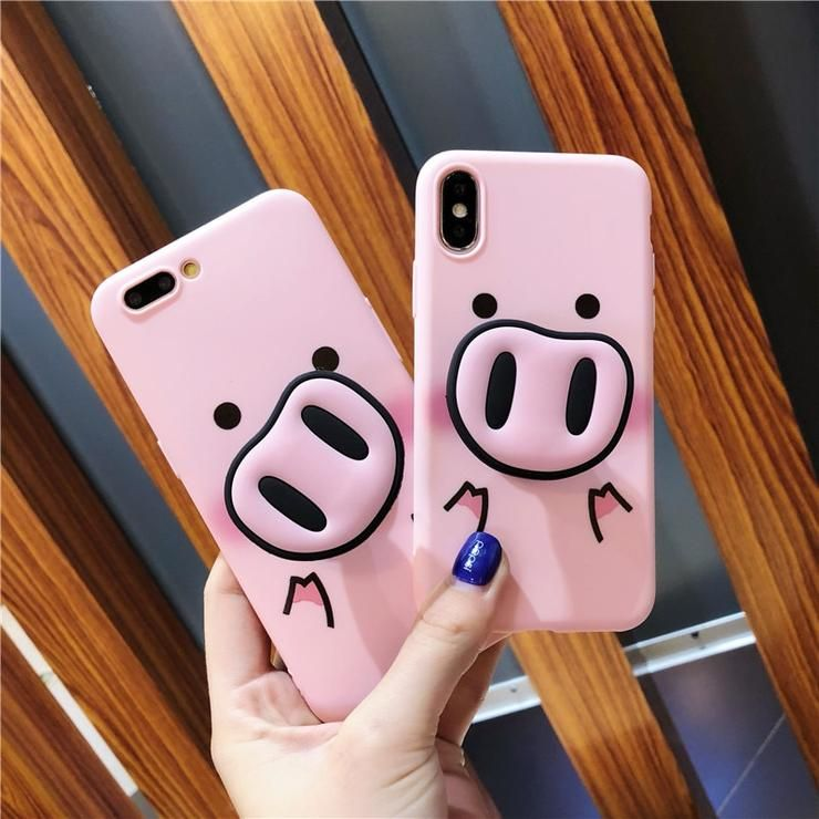 Cute Cartoon Pig Phone Iphone X Xs Max Xr 6 6s 7 8 Plus Case Cute Cartoon Iphone Iphonecases Cover Gifts Pink Iphone Cases Mermaid Case Case