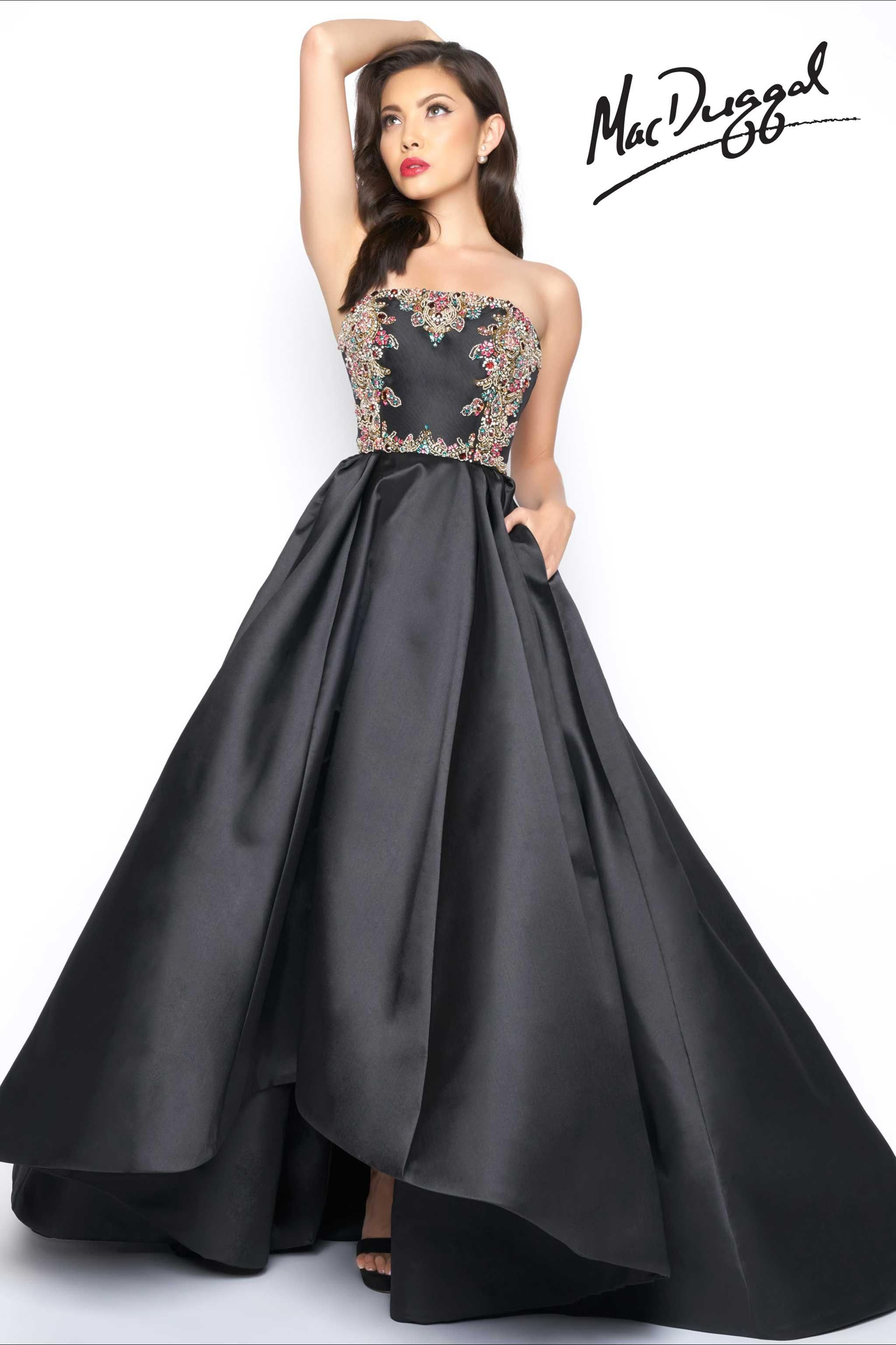black formal gown | Halee | Pinterest | Black formal gown, Formal ...