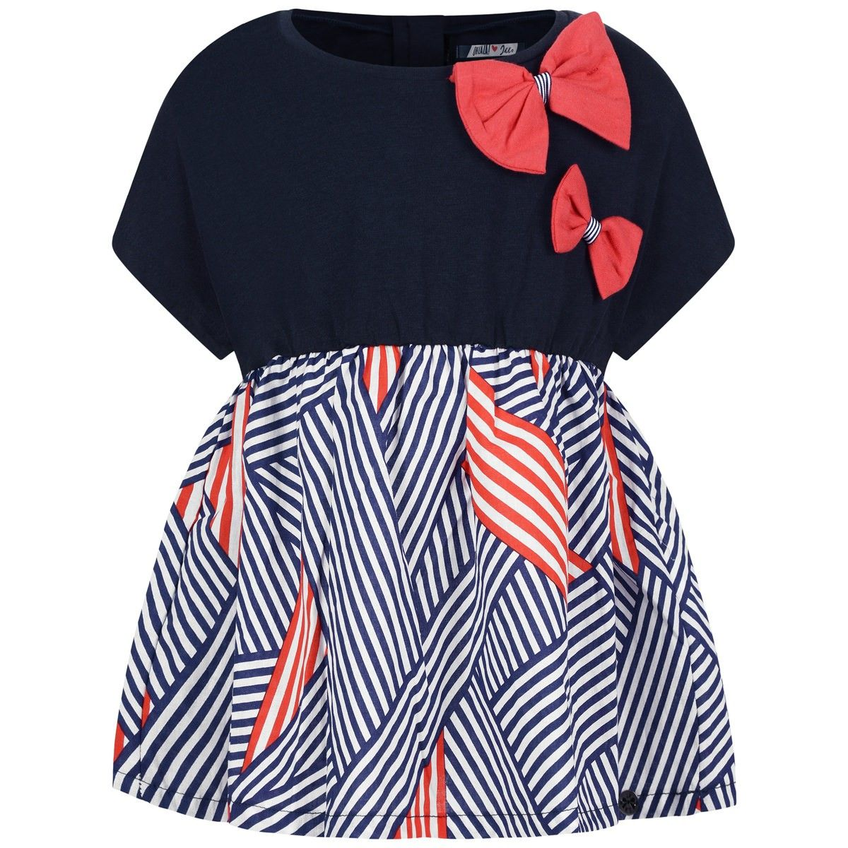 IKKS Girls Navy   Red Bow Blouse  4c9ddc3a99b65