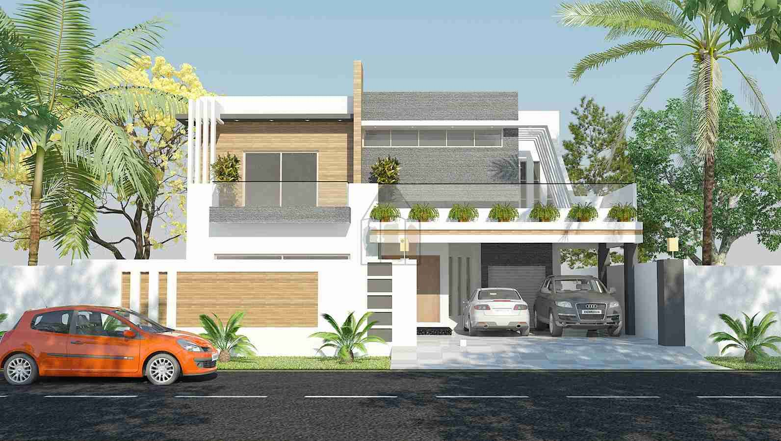 Front Elevation Of 1 Kanal Houses : Kanal house design front elevation fachadas facades of