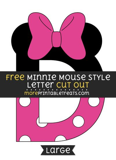 Free Minnie Mouse Style Letter D Cut Out  Large Size Printable