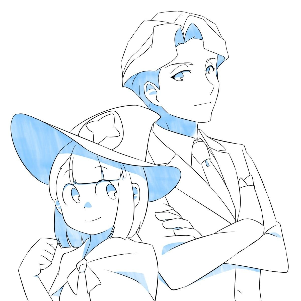 Andrew x akko // Ankko // Little Witch Academia // Lwa
