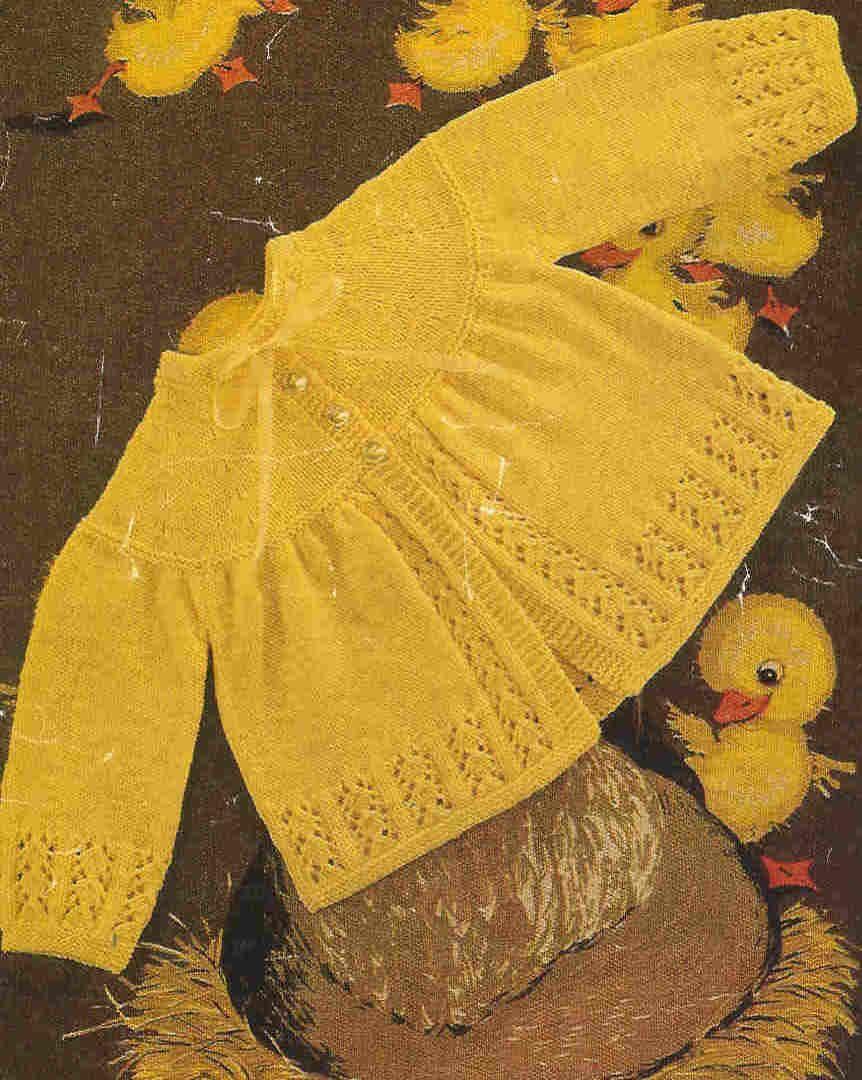 baby matinee coat vintage baby knitting pattern PDF by Ellisadine ...