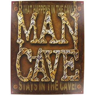 """16"""" What Happens in the Man Cave Tin Sign 