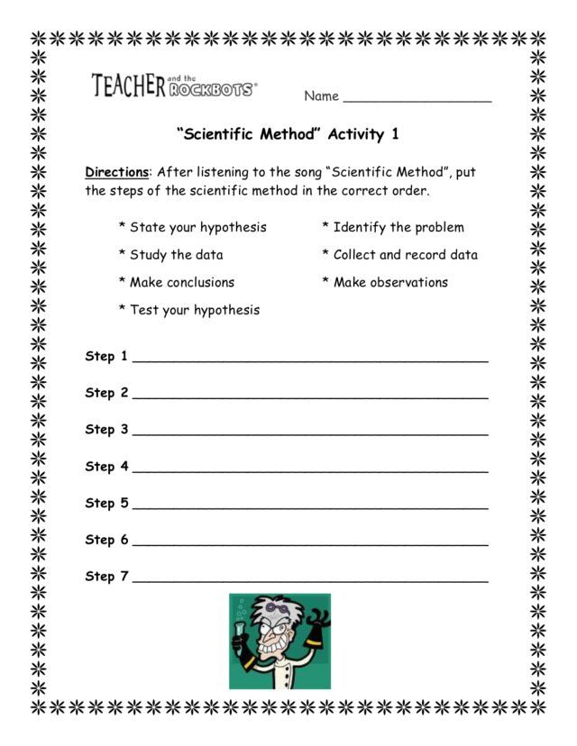 Scientific Method Activity 8th - 10th Grade Worksheet Lesson