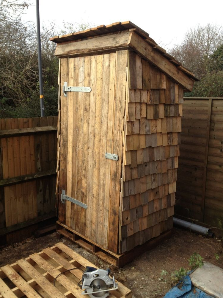Garden Sheds 4x4 garden shed the dunny 100% recycled reclaimed pallets unique 4x4