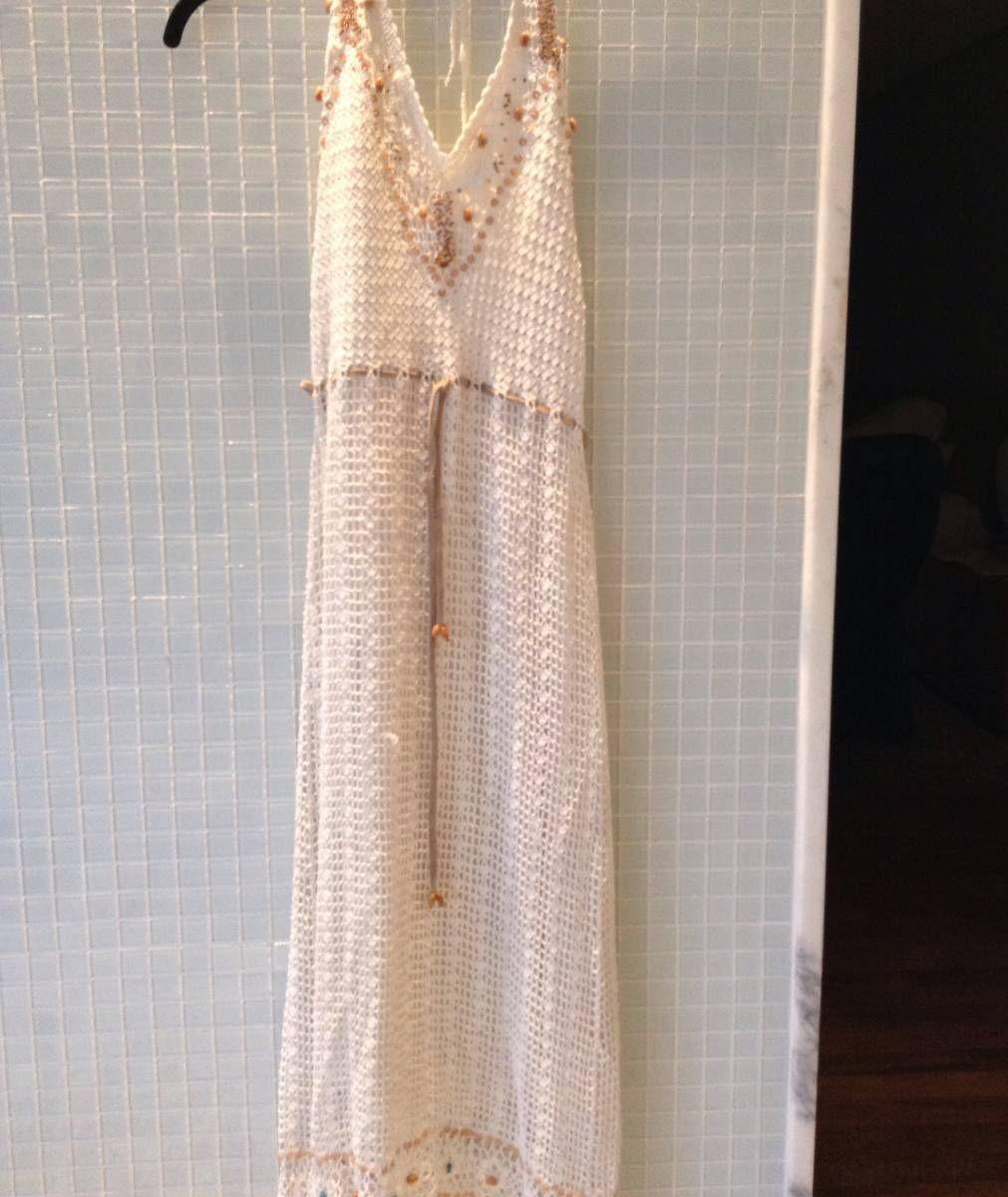 crochê bordado - vestidos hit