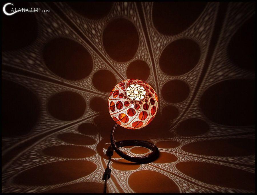 Table lamp XVI - by night 2 by Calabarte.deviantart.com on @deviantART