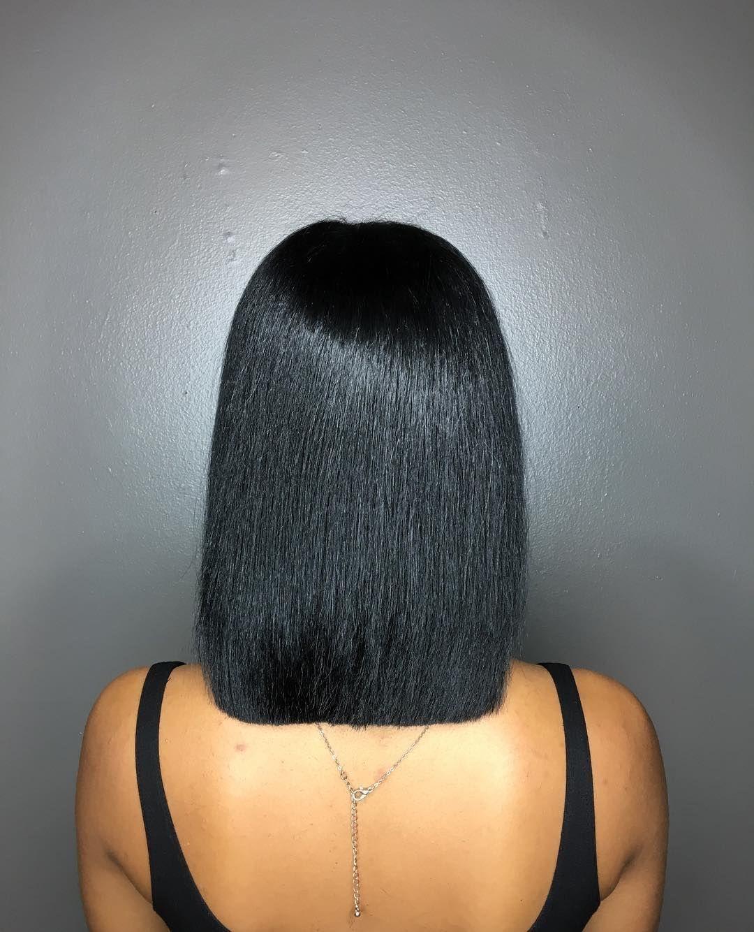 Bob cut African American hair #africanamericanhair