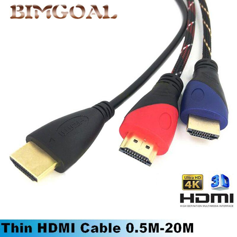 Hdmi kabel hdmi naar hdmi kabel hdmi 1.4 4 k 3d kabel voor hdtv LCD ...