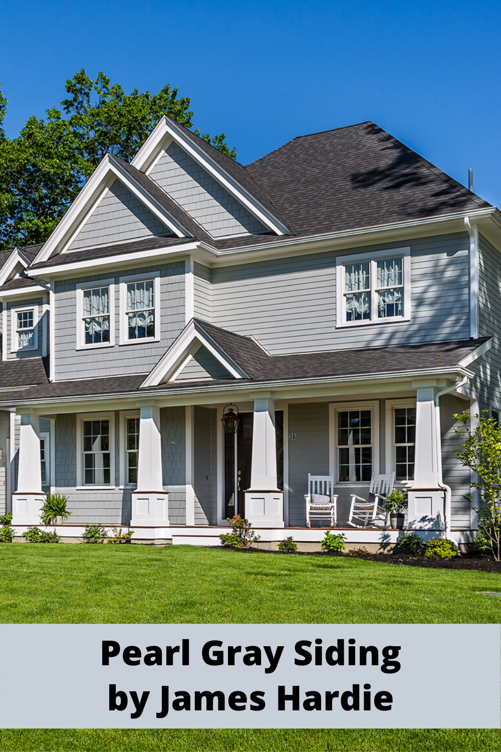 Pearl Gray Siding By James Hardie In 2020 Grey Exterior House Colors Gray House Exterior Grey Siding House