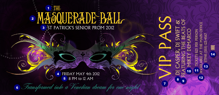 Doc.#1013355: Ball Ticket Template – Ball Event Ticket (+70
