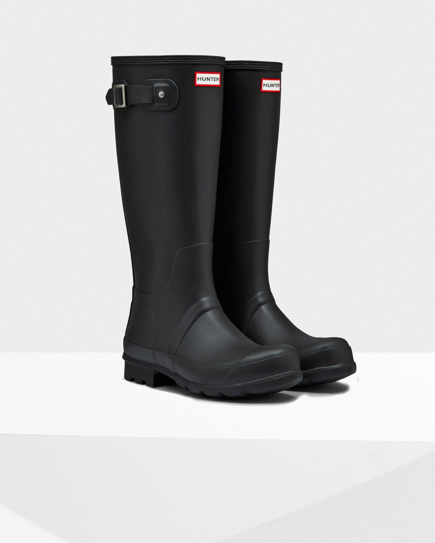b0bf5cb0803 Mens Black Tall Rain Boots   Official Hunter Boots Store   moi ...