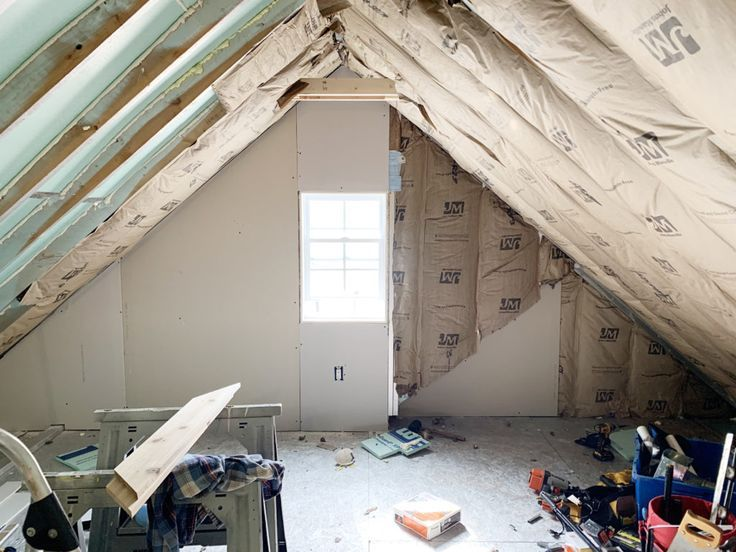 Insulating The Room Over The Garage In 2020 Attic Spaces Room Garage