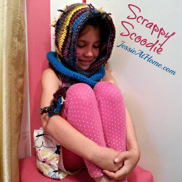 Scrappy Scoodie ~ Knit Pattern | Knitting girls, Scoodie ...