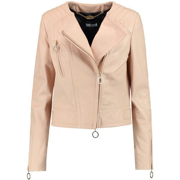 leather biker jacket - Pink & Purple Just Cavalli For Nice Online Discount Websites Clearance Amazon Discounts Cheap Price Comfortable Sale Online p3HqO4