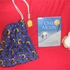 This story bag contains the gently used hardback book:Owl Moon by: Jane Yolan, a 6 inch stuffed owl, and an owl/moon fabric draw string bag that wi...