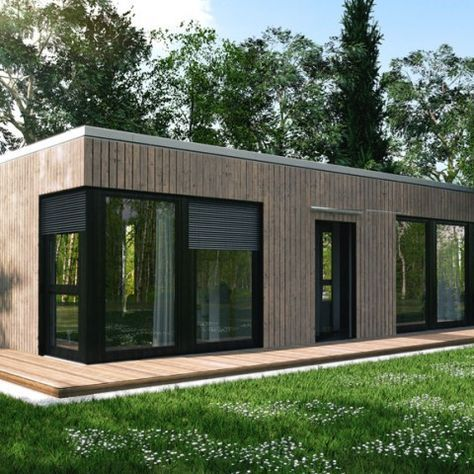 Ecohome42 portfolio massivholz bungalow l40 h user for Wohncontainer fertighaus