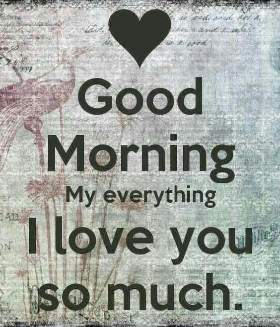 Good Morning My Everything That Is A Nice Way To Say Hello It Gives A Good Feeling To B Morning Love Quotes Morning Quotes For Him Good Morning My Love
