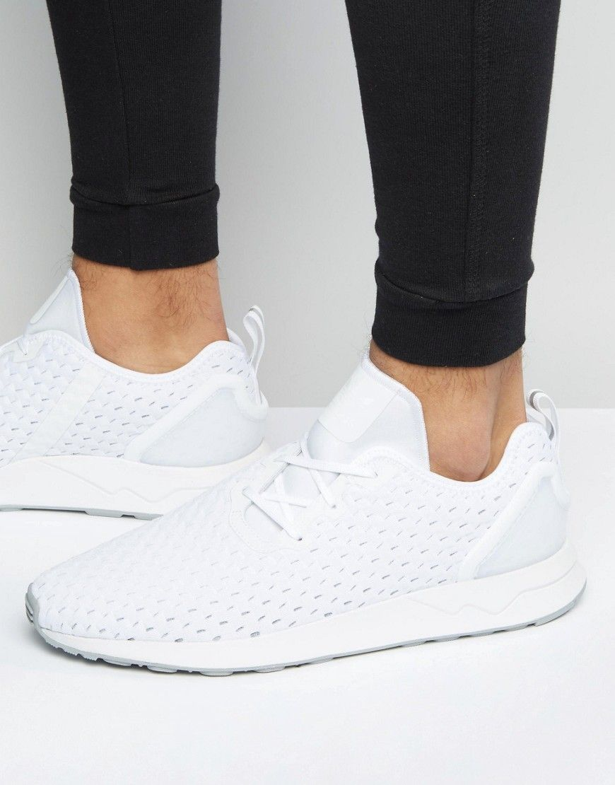 9a11ae2be ADIDAS ORIGINALS ASYMMETRICAL ZX FLUX SNEAKERS IN WHITE S76375 - WHITE.   adidasoriginals  shoes