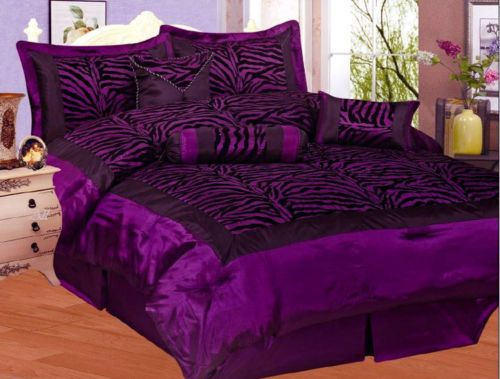 purple black zebra bedding mine queen size comforter sets purple comforter zebra bedding. Black Bedroom Furniture Sets. Home Design Ideas