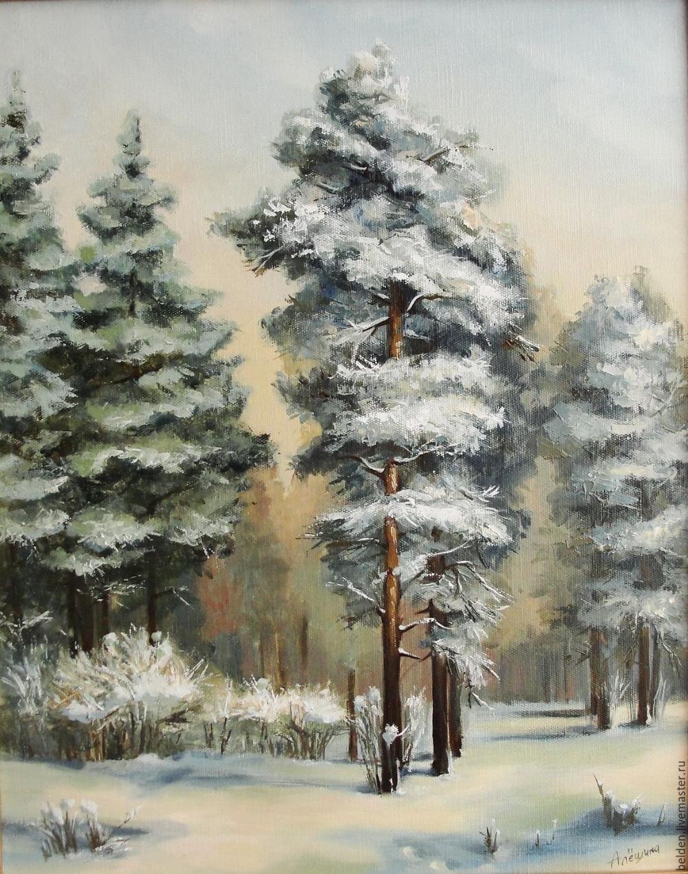 Зимний лес – заказать на Ярмарке Мастеров – 88BD1RU ...