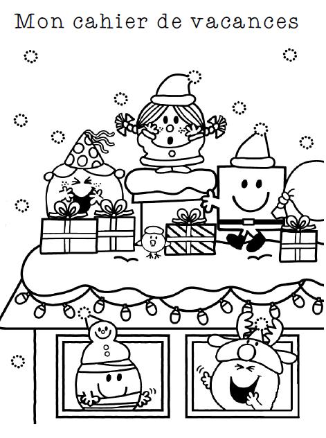 Cahier des vacances de Noël   L ecole de crevette | Vacances noel