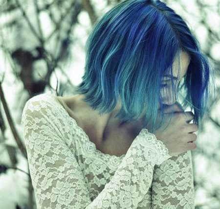 Best Hair Color Ideas For Short Hair Short Blue Hair Hair Color