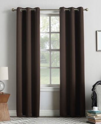 Sun Zero Preston 40 X 108 Grommet Top Blackout Curtain Panel